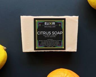 Soap - Citrus Soap - Vegan Soap - Lemon Soap - Handmade Soap - Homemade Soap - Bath Soap - Soap Gift - Bar Soap - Soap Bars - Soaps