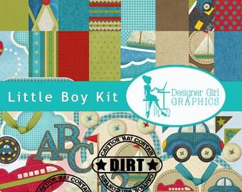 digital scrapbook, boys, crafts, paper downloads, cars, trucks