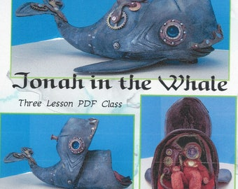 """Doll Making Class – Jonah and the 16"""" Whale, Steampunk Style!  Art Dolls by Susan Barmore (PDF Download) - SE512E"""
