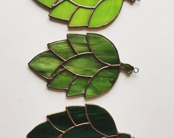 Stained glass HOPS - Original hand made one of a kind stained glass hops - Made to order