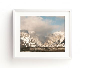 "landscape photography, landscape wall art, mountains, teton national park, jackson hole, large wall art, prints - ""The Shadows of Mountains"""