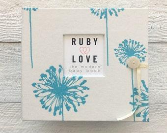 BABY BOOK | Turquoise Dandelions Album
