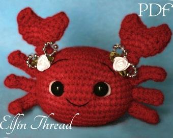 Elfin Thread - Crab Amigurumi PDF Pattern ( Crab  Crochet PDF Pattern)