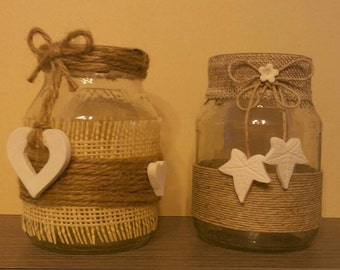"""Candle holder (pair) """"recycle"""" size large"""
