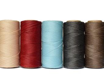 Micro Macrame Cord - 50 METERS - Waxed Polyester Linhasita - Beading Thread - Waxed Cord