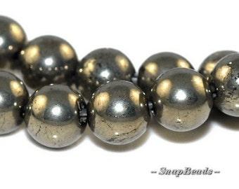 6mm Palazzo Iron Pyrite Gemstones Round 6mm Loose Beads 16 inch Full Strand (90107054-401)