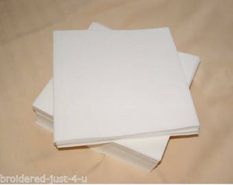 100 20cm x 20cm precut squares - suitable for most hoops up to 7in x 5in