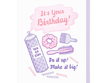 Do It Up Hair Stuff Letterpress Card