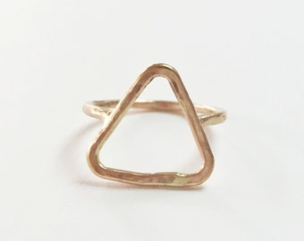Rose Gold Triangle Ring, Gold Ring Triangle, Triangle Ring, Rose Gold Ring, Gold Triangle Ring, Triangle Gold Ring, Triangle Ring Gold
