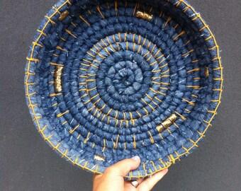 Denim and yarn bowl