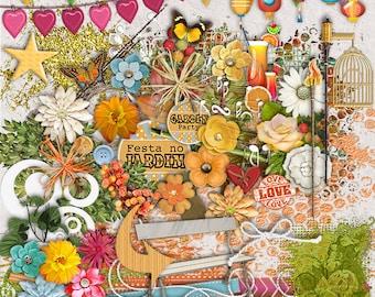 Digital kit GARDEN PARTY, party, flowers, garden