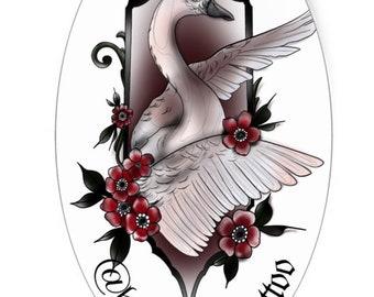 White Swan Sticker