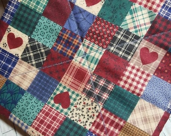 HOMESPUN HEARTS FARMHOUSE Potholder Hot Pad