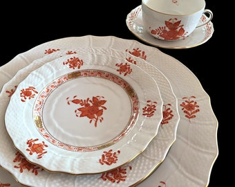 20 pc Herend China Dinnerware Set Formal China Place Settings