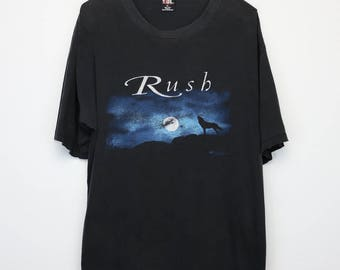 Rush Shirt Vintage tshirt 1998 Test For Echo Tour Concert tee 1990s Neil Peart Alex Lifeson Geddy Lee Rock and Roll Band Heavy Metal