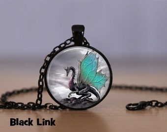 Turquoise Wing Dragon Necklace Dragon Pendant Necklace or Dragon Keyring Dragon Jewelry Dragon Pendant Dragon Necklace