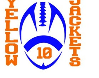 Football Team vinyl 2 color decal car tumbler cup decal personalized Mother Mom Player Customized