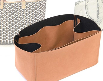 Regular Style Nubuck Leather Handbag Organizer for Goyard St Louis and Anjou Tote Bags