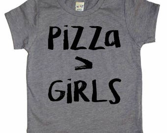 Pizza > Girls Graphic Tee for Infant and Toddler Boys