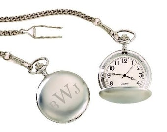 Personalized Pocket Watch - Engraved Groomsmen Gift, Father's Day Gift, Anniversary