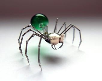 Clockwork Spider Sculpture No 90 Recycled Watch Parts Arachnid Figurine Stems Lightbulb Arthropod A Mechanical Mind Gershenson