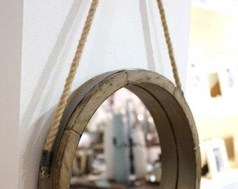 Barrel Lid Rope Mirror
