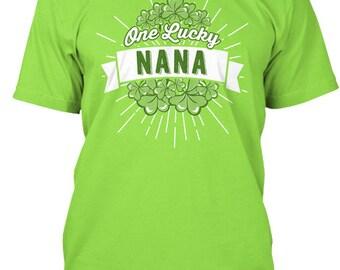 One Lucky Nana Hanes Tagless Tee Tshirt