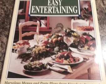Vintage Betty Crocker Cookbook Easy Entertaining (1992), Great Condition, Cooking Baking Instructions Tutorial