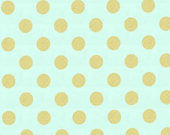 1 yard of Mist Quarter Dot Pearlized by Michael Miller Fabrics