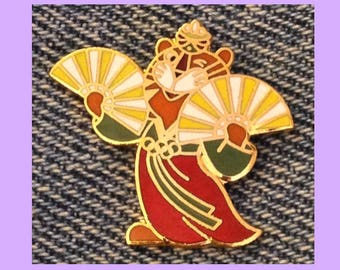 Seoul 1988 Olympic Pin ~ Mascot ~ Hodori the Tiger ~ Fan Dance ~ by HoHo NYC
