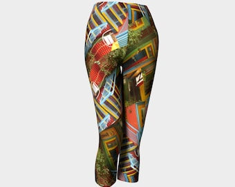 CAPRIS / Tights / Colourful / Bright / Yoga Pants / Gymwear / Activewear / Yoga / Patterned Leggings / Patterned Tights / Luxe leggings