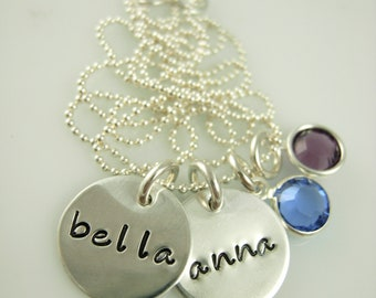 Hand Stamped Mommy Jewelry - Hand Stamped Necklace - Personalized Jewelry