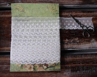 """Vintage white English lace 4 yards 1 1/4"""" wide"""