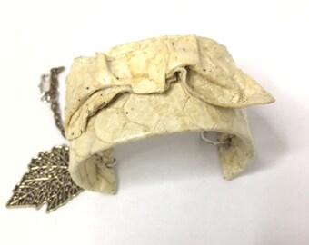 ILAPIA yellow straw cuff bracelet