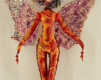 Fairy Coral- Spirit Doll - Ooak (Made by Request)