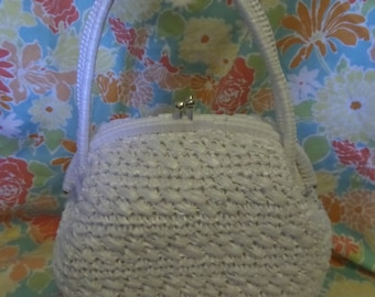 Vintage White Babette purse handbag