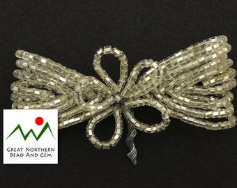 Vintage Italian Seed Bead Bow,#:VIN023171