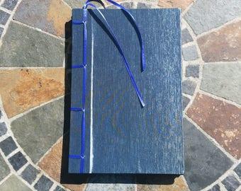 Blue Stab Bound Notebook