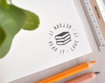 Read It, Love It, Return It Stamp | Teacher Stamp - Library Stamp - Modern Book Plate  - Teacher Gift  - End of Year Gift - Book Stamp