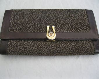 Brown Leather Caggiano Tri-Fold Wallet