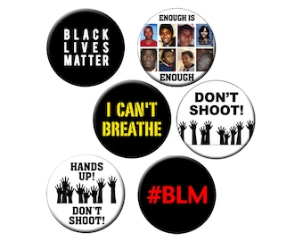 "Choose a Lg Pin - Black Lives Matter - Choose from 6 Different ""Black Lives Matter"" Designs on a 2.25"" Pinback Button or Badge"