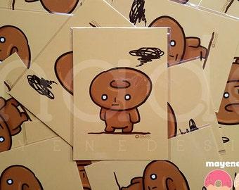 kogepan donut postcard 5x7 print
