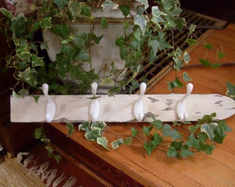 White picket fence coat rack