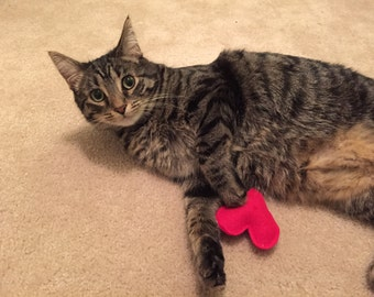 Heart Cat Toy – Organic Catnip Cat Toy - Love - Valentines Day Cat Gift - Cat Lover Gift