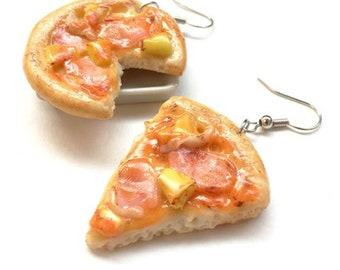 Pizza earring | Food earring | Food Jewelry | Miniature Foods | Thai Foods | Gift | Earring Cute