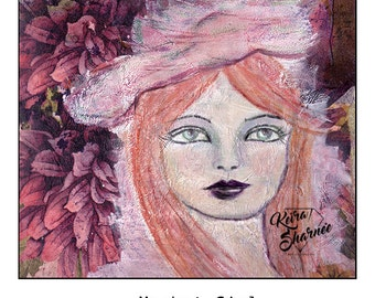 Market Girl A4 Art Print on Giclee Paper