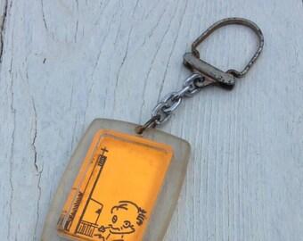 Schlüsselanhänger vintage 50's retro antik ethical-fashion Rarität midcentury