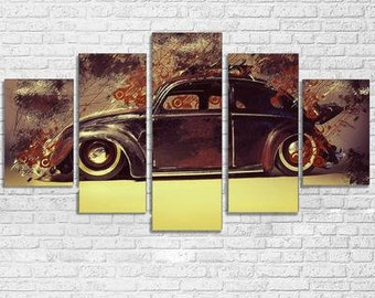 VW Beetle 5pc Canvas Set