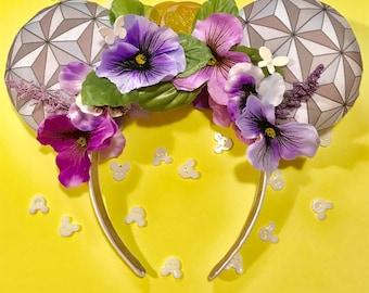 Violet Lemonade Epcot Flower & Garden Festival Inspired Disney Ears Headband