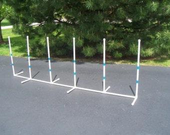 Agility Gear Fixed Weave Poles ( 6 pole set ) - Dog Agility Equipment